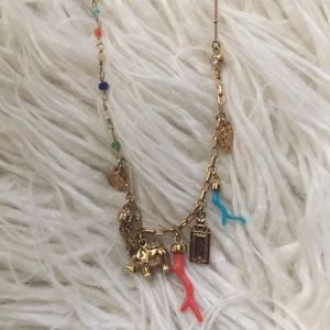 Henri Bendel necklace charm elephant gold tone